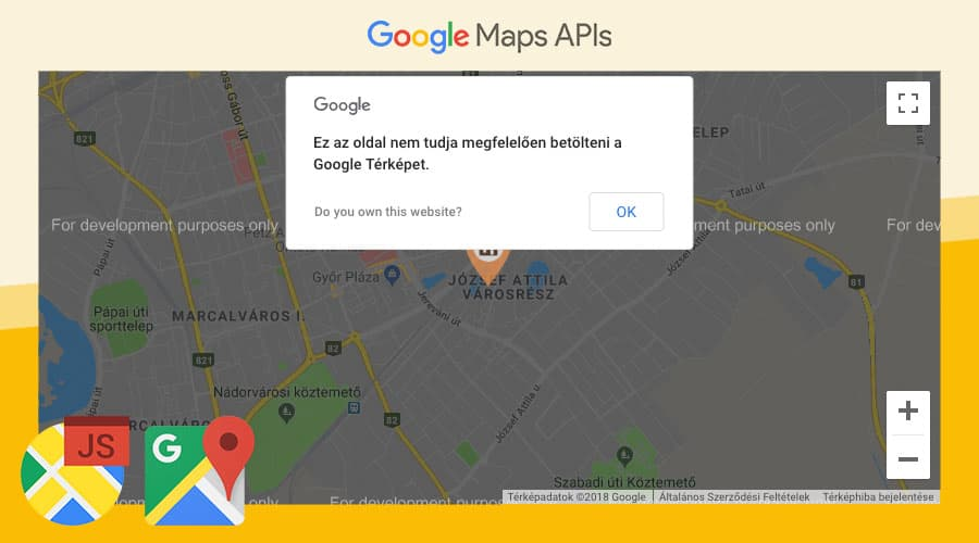 google-maps-api-error - google, maps, hiba, error, do you own this website, api